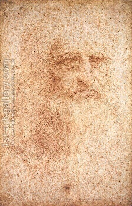 Self Portrait by Leonardo Da Vinci - Reproduction Oil Painting