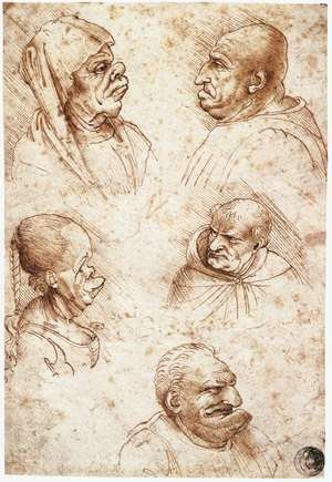 Reproduction oil paintings - Leonardo Da Vinci - Five Caricature Heads