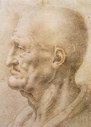Reproduction oil paintings - Leonardo Da Vinci - Profile Of An Old Man