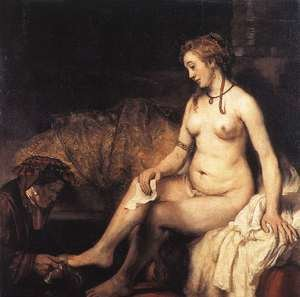 Reproduction oil paintings - Rembrandt - Bathsheba at Her Bath 1654