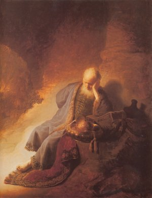 Reproduction oil paintings - Rembrandt - Jeremiah Lamenting the Destruction of Jerusalem 1630