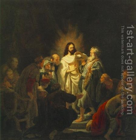 Rembrandt: The Incredulity of St Thomas 1634 - reproduction oil painting