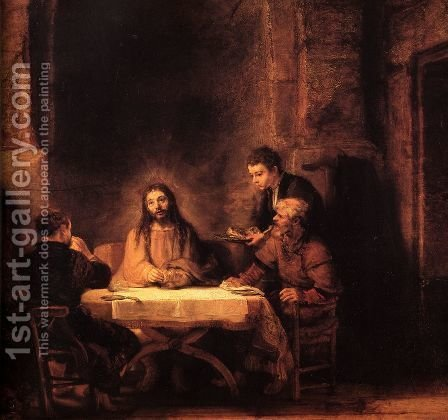 Rembrandt: Supper at Emmaus 1648 - reproduction oil painting