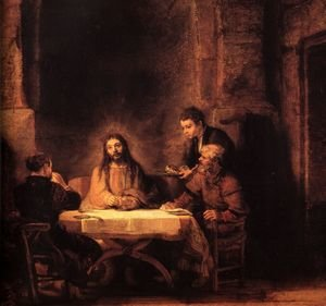 Reproduction oil paintings - Rembrandt - Supper at Emmaus 1648