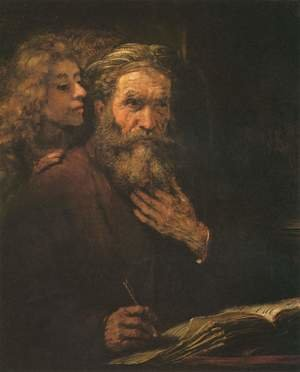 Famous paintings of Angels: Evangelist Matthew and the Angel 1661