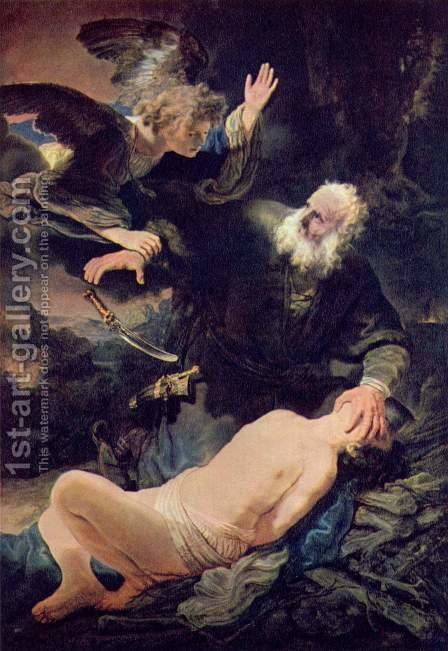 Rembrandt: The Sacrifice of Abraham 1635 - reproduction oil painting