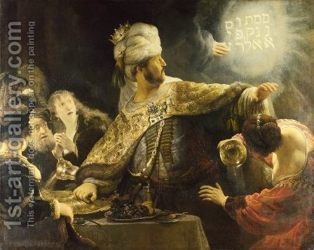 Rembrandt: Belshazzar's Feast 1635 - reproduction oil painting