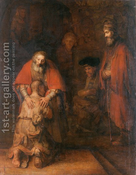 Rembrandt: The Return of the Prodigal Son c. 1669 - reproduction oil painting