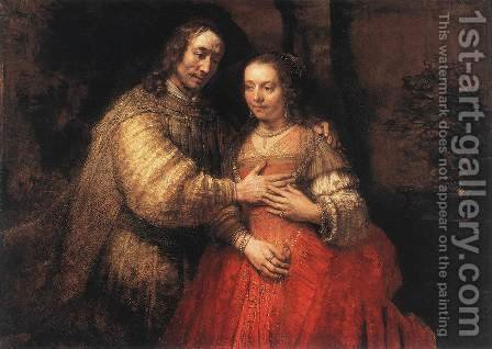 Rembrandt: The Jewish Bride c. 1665 - reproduction oil painting