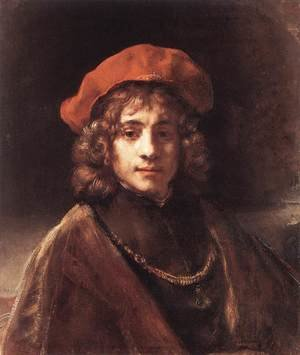 Famous paintings of Men: The Artist's Son Titus c. 1657