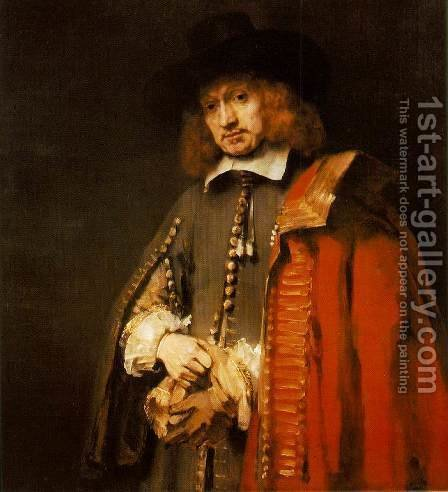 Rembrandt: Jan Six 1654 - reproduction oil painting