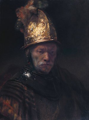 Rembrandt reproductions - Man in a Golden Helmet c. 1650