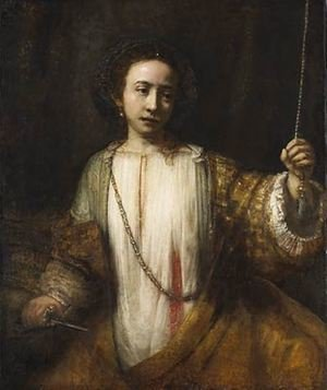 Reproduction oil paintings - Rembrandt - Lucretia 1666