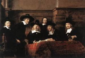 Reproduction oil paintings - Rembrandt - Sampling Officials of the Drapers' Guild 1662
