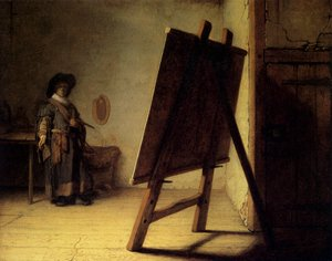 Reproduction oil paintings - Rembrandt - The Artist in his Studio 1626-28