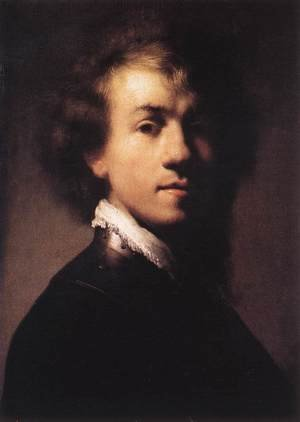 Reproduction oil paintings - Rembrandt - Self-Portrait with Lace Collar c. 1629