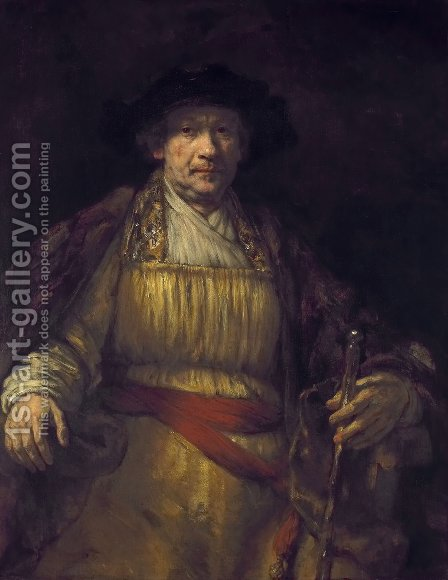 Self-Portrait 1658 by Rembrandt - Reproduction Oil Painting