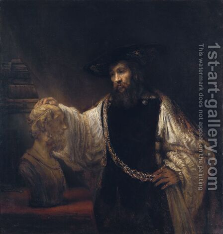 Rembrandt: Aristotle with a Bust of Homer 1653 - reproduction oil painting