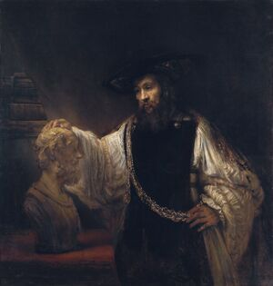 Reproduction oil paintings - Rembrandt - Aristotle with a Bust of Homer 1653