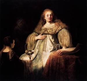 Reproduction oil paintings - Rembrandt - Artemisia 1634