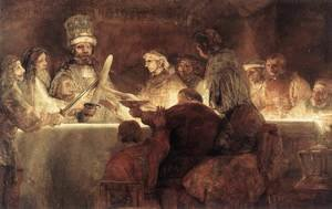Reproduction oil paintings - Rembrandt - The Conspiration of the Bataves 1661-62