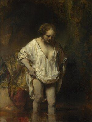Reproduction oil paintings - Rembrandt - Hendrickje Bathing in a River 1654