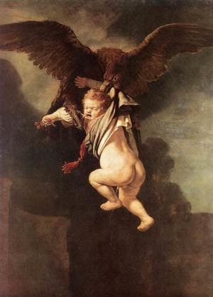Reproduction oil paintings - Rembrandt - Rape of Ganymede 1635