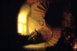 Reproduction oil paintings - Rembrandt - Philosopher in Meditation 1632