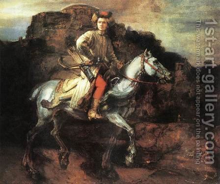 Rembrandt: The Polish Rider 1655 - reproduction oil painting
