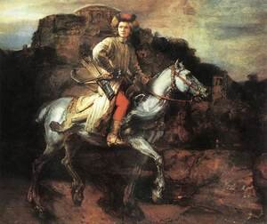 Famous paintings of Transportation: The Polish Rider 1655