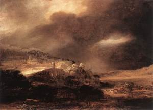 Reproduction oil paintings - Rembrandt - Stormy Landscape c. 1638