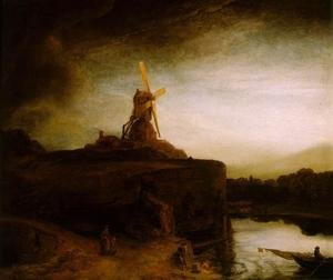 Reproduction oil paintings - Rembrandt - The Mill c. 1650
