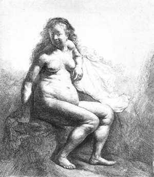 Reproduction oil paintings - Rembrandt - Seated Female Nude 1631