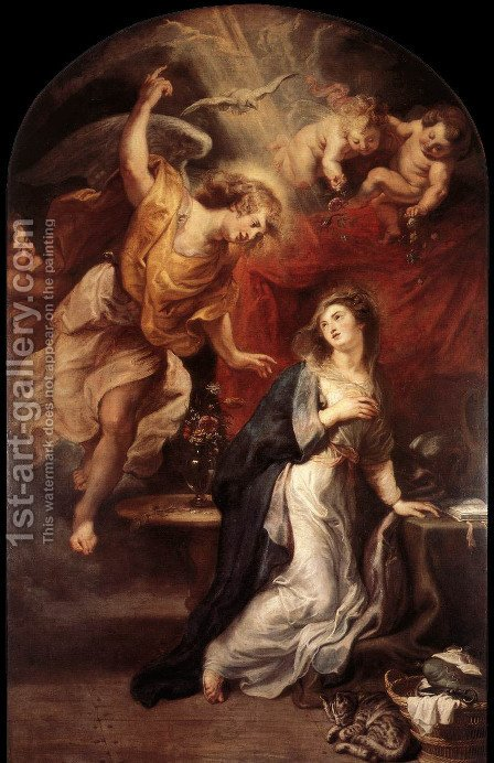 Annunciation by Rubens - Reproduction Oil Painting