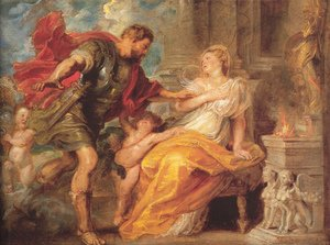 Reproduction oil paintings - Rubens - Mars And Rhea Silvia