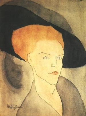 Expressionism painting reproductions: Head Of A Woman With A Hat