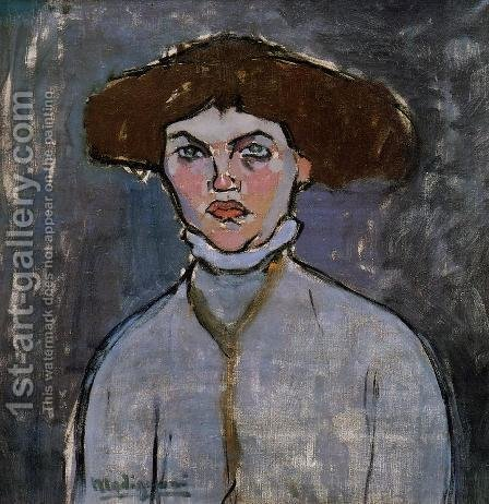 Head Of A Young Woman by Amedeo Modigliani - Reproduction Oil Painting
