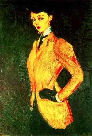 Expressionism painting reproductions: Woman In Yellow Jacket   The AmazonWoman In Yellow Jacket   The Amazon