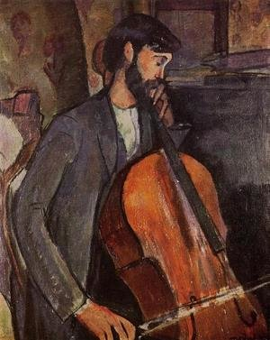 Expressionism painting reproductions: Study For The Cellist