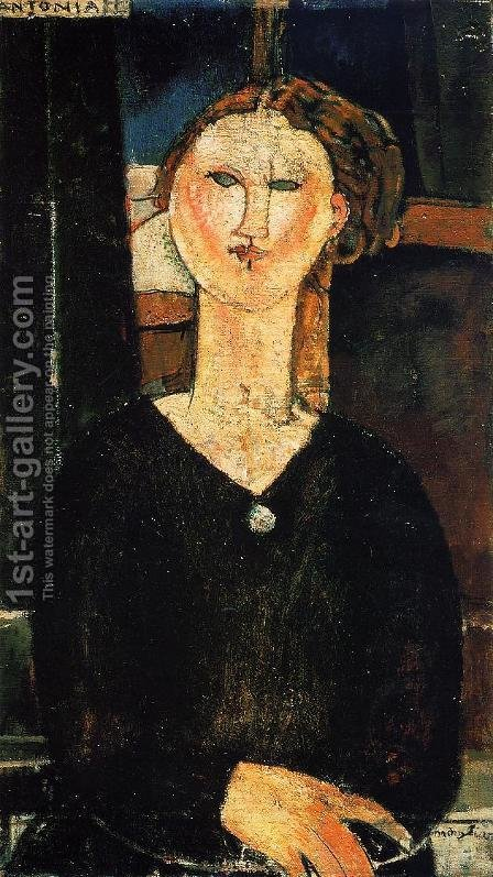 Antonia by Amedeo Modigliani - Reproduction Oil Painting