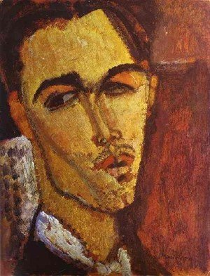 Expressionism painting reproductions: Portrait Of The Spanish Painter Celso Lagar