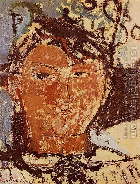 Amedeo Modigliani: Portrait Of Pablo Picasso - reproduction oil painting