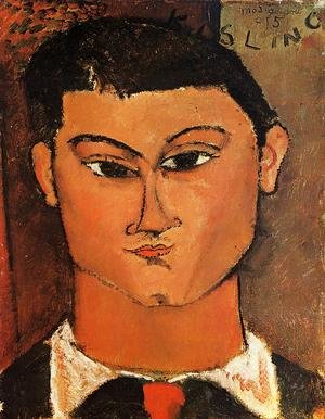 Expressionism painting reproductions: Portrait Of The Painter Moise Kisling
