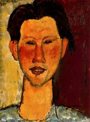 Expressionism painting reproductions: Portrait Of Chaim Soutine
