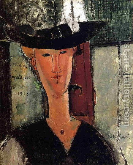 Madam Pompadour   Portrait Of Beatrice Hastings by Amedeo Modigliani - Reproduction Oil Painting