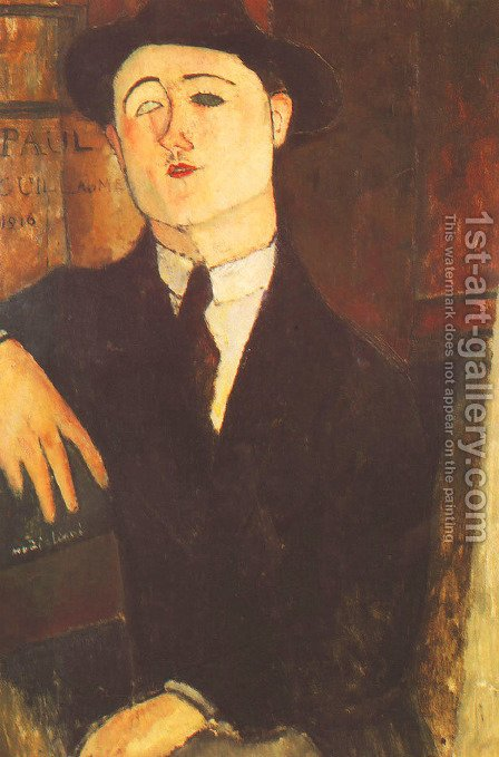 Portrait Of The Art Dealer Paul Guillaume by Amedeo Modigliani - Reproduction Oil Painting