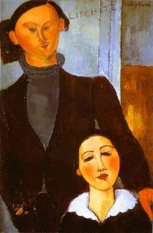 Expressionism painting reproductions: The Sculptor Jacques Lipchitz And His Wife Berthe Lipchitz