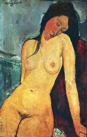 Expressionism painting reproductions: Seated Nude