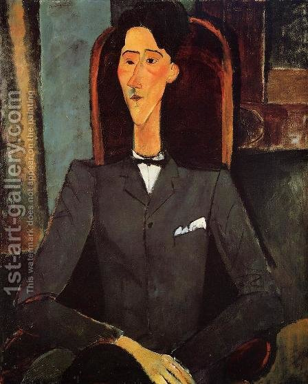 Portrait Of Jean Cocteau by Amedeo Modigliani - Reproduction Oil Painting