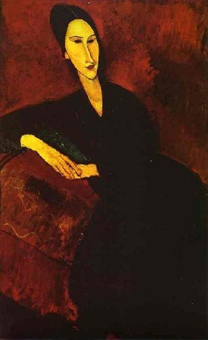 Expressionism painting reproductions: Madame Zborowska On A Sofa